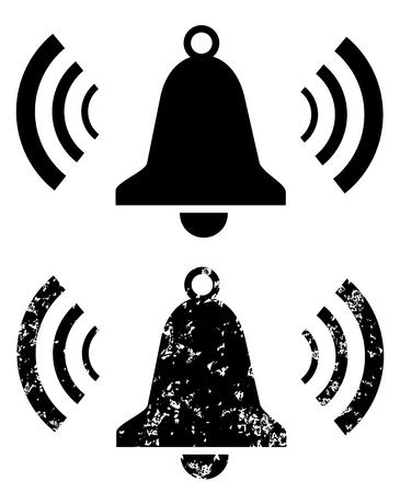 Ringing bell icons set isolated on white background