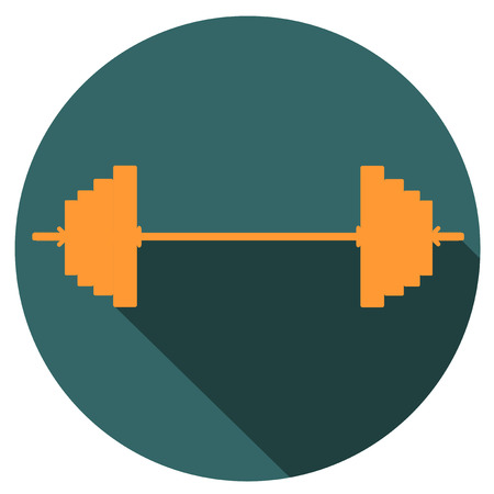 Classic dumbbell flat icon design vector EPS 10