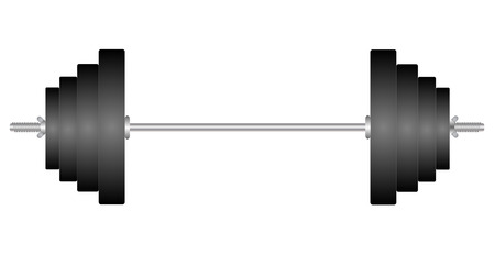 Classic dumbbell isolated on white background vector eps 10