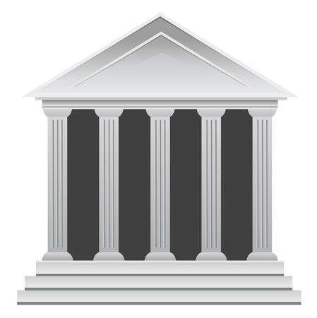 Greek historic bank building