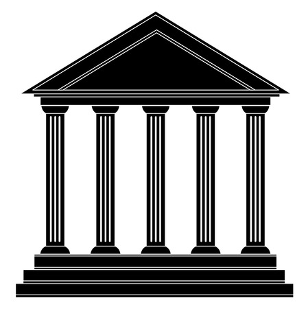 Colonnes bâtiment historique ancien grec