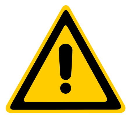 general warning: Blank Other Danger And Hazard Sign, isolated, black general warning triangle over yellow vector eps 10 Illustration