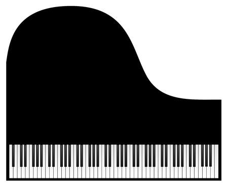 Clavier de piano isolé sur fond blanc. Vecteur eps 10