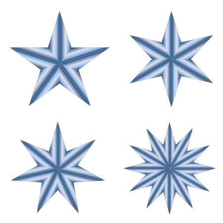 Stars on white background vector.