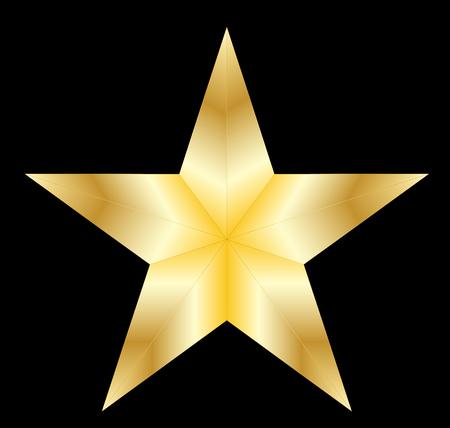 Stars on black background vector.