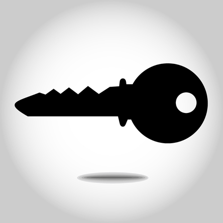 Silhouette of a a key illustration.