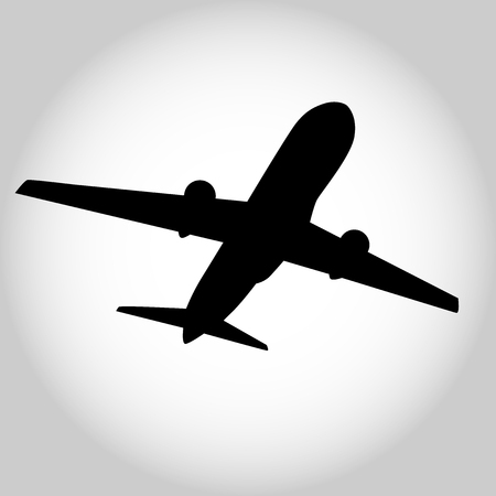 A passenger jet aircraft vector  on plain background.
