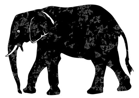 elephant grunge illustration Illustration