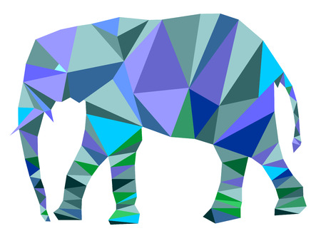 Geometric elephant illustration.