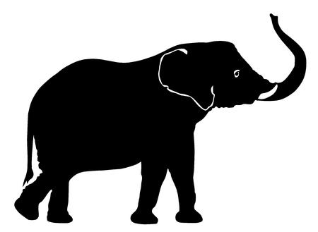 Vecteur de silhouette d'éléphant Illustration