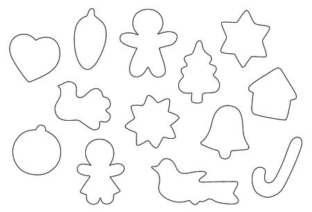 Biscuits de Noël vecteur vectoriel 10