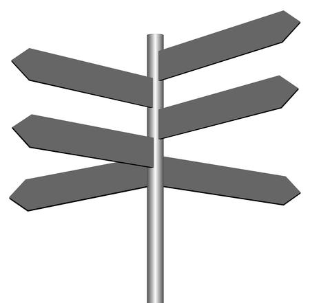 Panneau de signalisation vide pour affaires concept vecteur eps 10