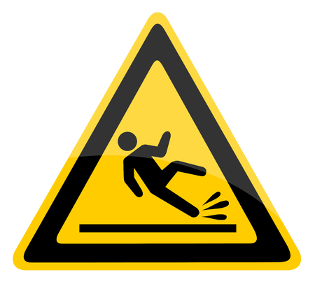 Znak ostrzegawczy mokrej podłogi.