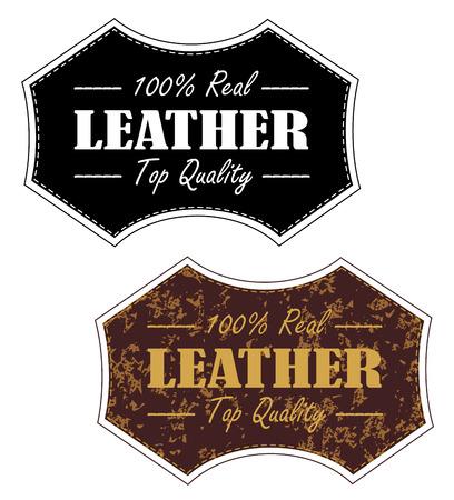 Timbre de produit en cuir 100% vintage dans les deux eps vecteur propre et en détresse 10