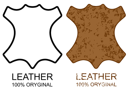 Symbol 100% Leather Product sign icon grunge vector eps 10