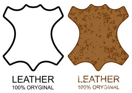 Symbol 100% skórzany produkt znak ikona grunge wektor eps 10