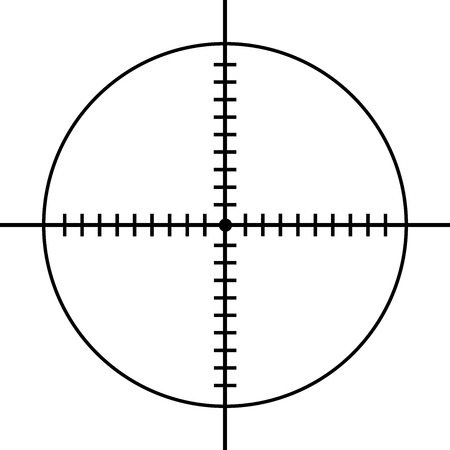 circle shooting target on white background vector eps 10