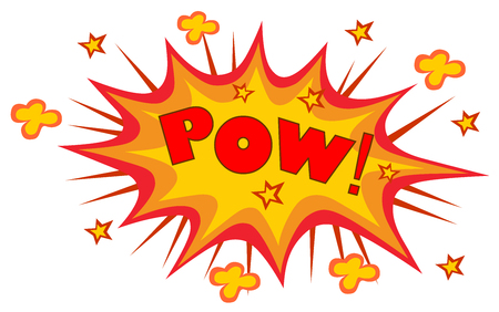 POW! wording sound effect set design for comic Vector illustration.