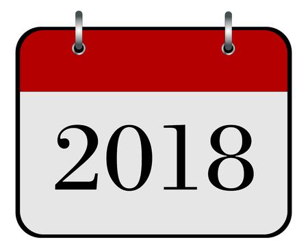2018 année calendrier icône vecteur eps 10