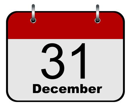 31 December calendar icon vector eps 10