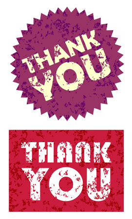 drawn grunge Thank You graphics vector eps 10