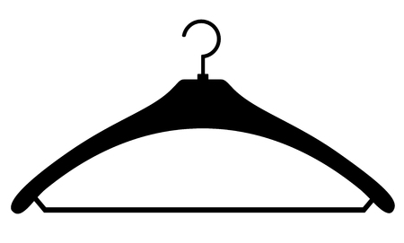 Coat hanger black simple icon isolated on white background vector eps 10