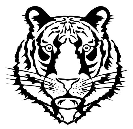 Tiger head vector eps 10 Illustration