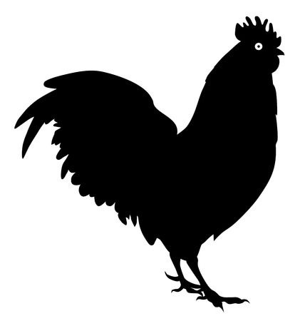 Rooster Cock Side View Vector illustration. Stok Fotoğraf - 91554334