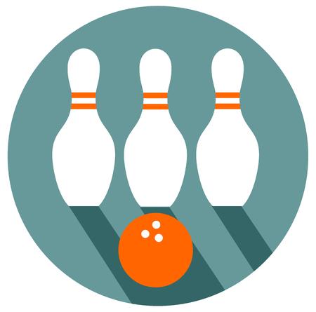 Bowling flat design vector eps 10