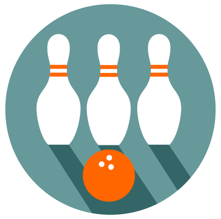 Bowling flat design vector eps 10