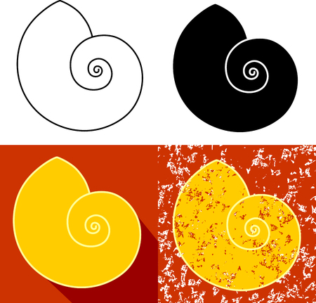 Set of snail in different color and background illustration.