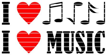 J'aime l'illustration de musique.