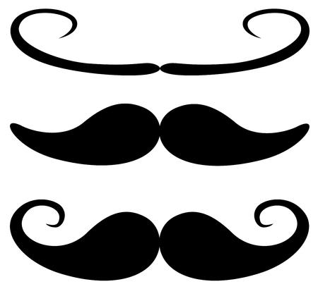 Vecteur de moustache Vintage Black Icons