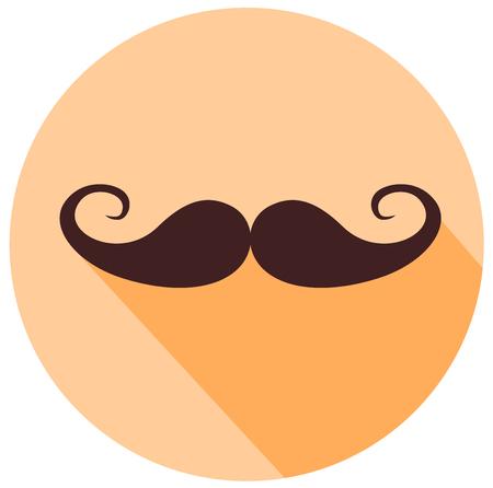 Mustache Vintage flat design icon vector eps 10 Illustration