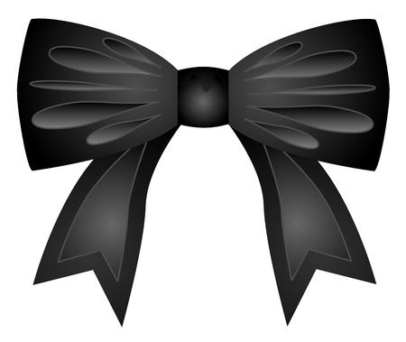 Soie de ruban bow cadeau sur fond blanc illustration.
