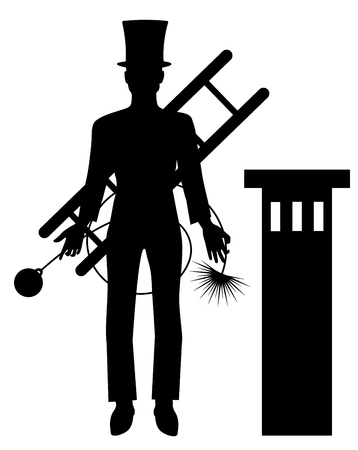 chimney sweeper men vector eps 10