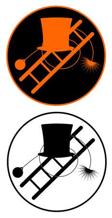 chimney sweeper icon vector eps 10 Stock Illustratie