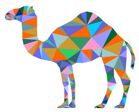 Kameel kleur geometrisch symbool vector.