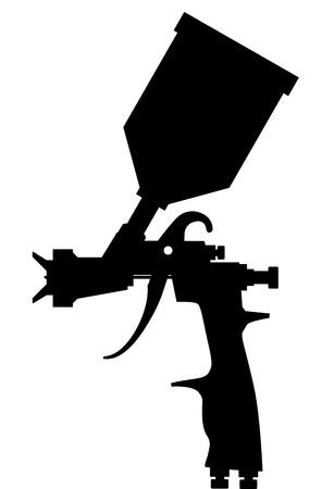 Farby kiści pistoletu czerni wektor eps 10 Ilustracje wektorowe