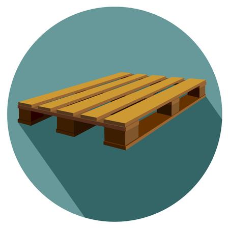 A CEN  EURO pallet flat design icon vector