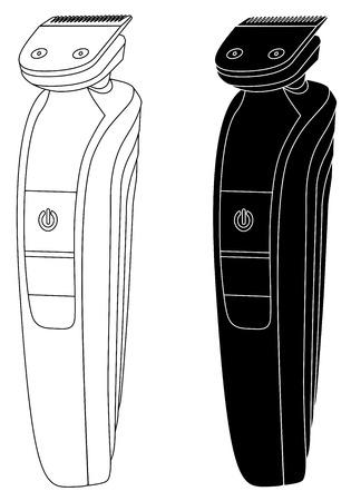 Simple illustration of clipper vector.