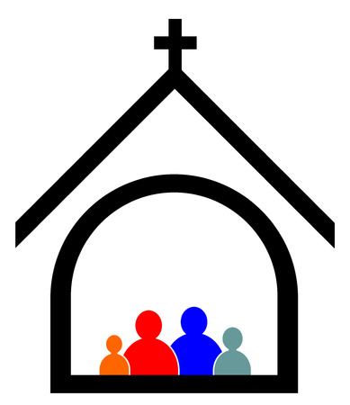 Church family concept vector eps 10