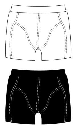 Boxer shorts set isolated on white background vector illustration.
