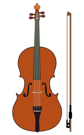 바이올린 격리에 흰색 격리