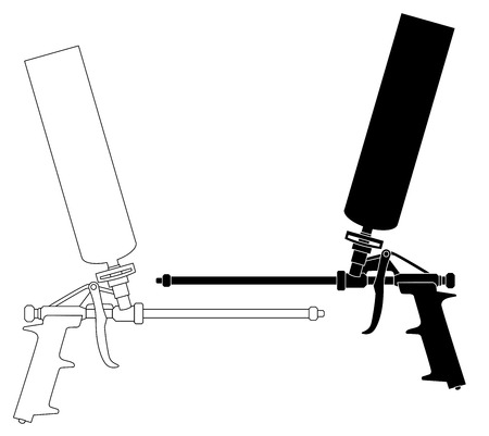 Foam gun set vector eps 10 Banco de Imagens - 95375479