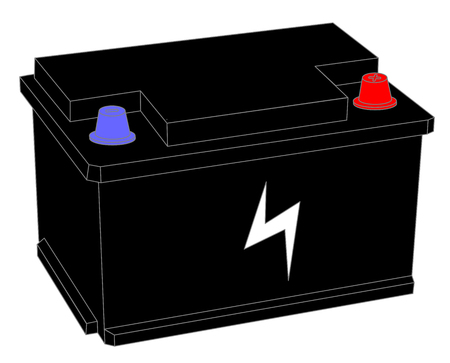 Accumulator battery power and electricity Vector illustration eps 10