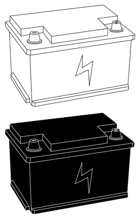 Accumulator battery power and electricity icon set vector illustration.