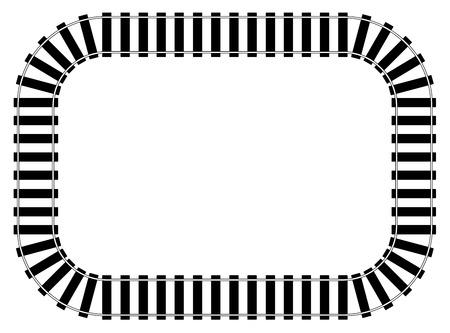 Railroad Track vector eps 10 Stok Fotoğraf - 96118217