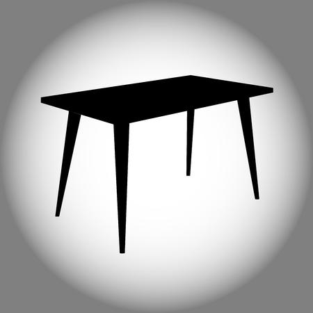 Table in black icon