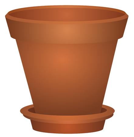 Empty Flower Pot vector
